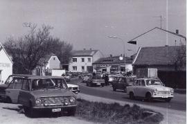 1989 Öffnung des eisernen Vorhang. Verkehr in Zurndorf 10PRO