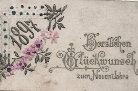 1897 Neujahr Karte 135RW