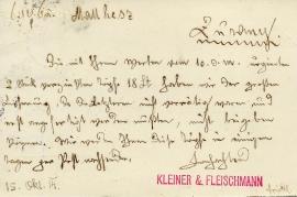 1914  Kleiner & Fleischmann b 1R