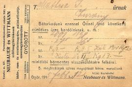 1913 Neubauer & Wittamnn b 3R
