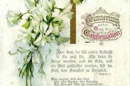 1909 Konfirmationskarte Karoline Hautzinger