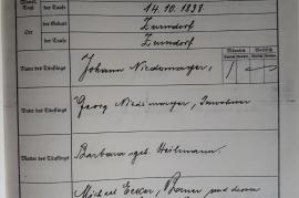 1838 Taufschein