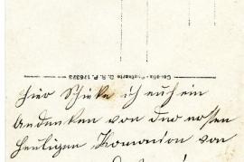 1919 Kommunion Anny Popp (verh. m. W. Edinger) and Sandor Popp 1919 back 13HW