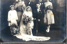 1928 Hochzeit Fam. Lentsch in Amerika 258B