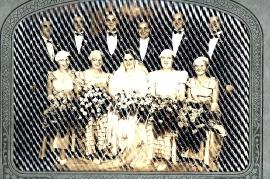 1928er Hochzeit Fam. Lentsch in Amerika  259B