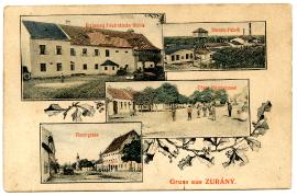 1910 Zurndorf To Horwath, nee Rauscher, Katherine Postcard Front From Zurany 33HW