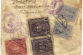 1922 Umschlag ab Johan Rauscher Zurndorf, BNaS, Burgenland Rücks. 55HW
