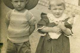 1919 1Sandor Popp and Anny Popp (verh.m. W.Edinger) front 8HW