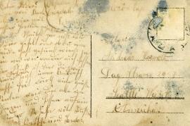 1919 1Sandor Popp and Anny Popp (verh.m.W. Edinger) back 8HW