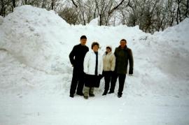 1986 Winter in Zurndorf, Leithagasse 73HM