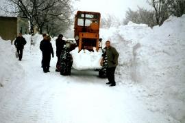 1986 Winter in Zurndorf, Leithagasse 74HM