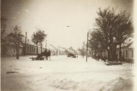 1950er Untere Hauptstr. Pferde Schlittenfahrt 75PM