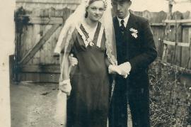 1939 Helene u. Josef Ranitsch Hochzeit 200RW