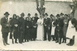 1930er Hochzeitsfoto unbekannt 47HW
