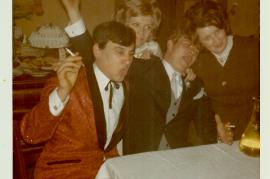 1971 J. Sochr, J. Drescher, P. Drescher, M. Prath auf der Hochzeit 67DW