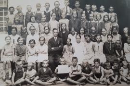 1930 Schulbild Jahrgang 1927-28 Lehrer Ziniel