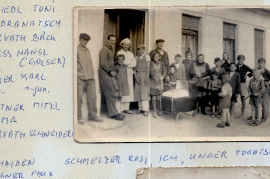 1950er Anton Friedl, Hr. Kudranatsch, Hr. Horvath, Hansl Weiß (Goiser) K. Ecker sen. K. Ecker jun. Mitzi Leitner, Fr. Sonnleitner, Horvath (Schneider), Hr. Pschaiden, Wagner Paux, usw. 116So