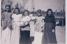 1950er I.Meixner, L.Muth, A.Bruckner, Gerda Druschba, P.Reif, 11PA