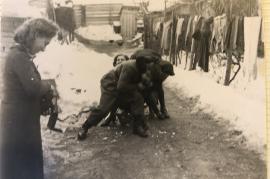1950er E.Pamer, Kurt Muckenhuber, Hilde Muckenhuber, Ruth Pamer 29SP