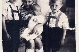 1948 J. Rechnitzer, Maria Mayerhofer, Andi Mayerhofer, Evi Rechnitzer, Walter Rechnitzer 49M