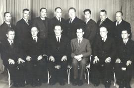1950er Bauernverband 1.v.l. L. Nitschinger 2. R.6.v.l. A. 60NH