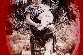 1950er Fr. Pittnauer mit Tochter 73PI