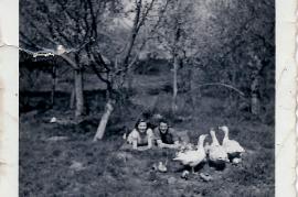 1954 beim Gänsehüten, E. Göbl, G. Schmitzhofer 89ME