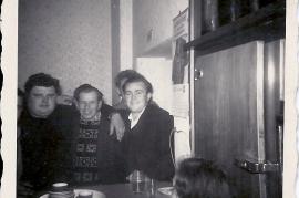1960 M. Pamer, F. Schmelzer, M. Rosta im Gasthaus Thell 3RM