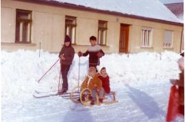 1970er Winter in der Neusiedlergasse 40ZA
