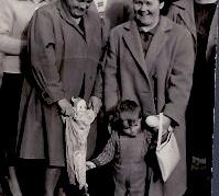 1960er Fr. Dürr, E. Fischer, W. Dürr(Spil), Fr. Hareter, Hr. Stelzer, Fr. Stelzer 51FR