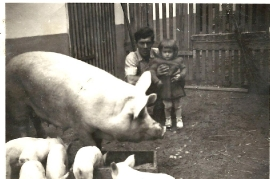 1958 8 Gustl Dürr mit Grete