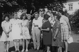 1974 kath. Sänger Ausflug E. Rechnitzer, G. Toth, A. Stettner, Fr. Ettl, F. Frank, M. Steiner (Mutter v. Pauli), M. Schwab, Fr. Zeiser,(geb. Hafner) 36FR