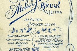 1870 Johann Rauscher Rückseite Foto Ferbus Bruck 14HW