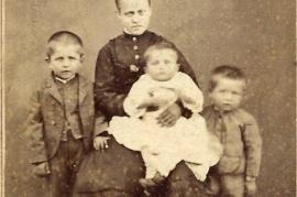 1870 v.l. J. Müllner, Neger Ahnl, P., J. Müllner, 21B